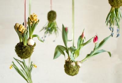 DIY : des fleurs suspendues à mon plafond!