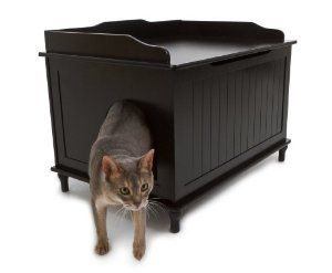 Litterbox enclosure. Hide litter box, and have a place to put on boots.