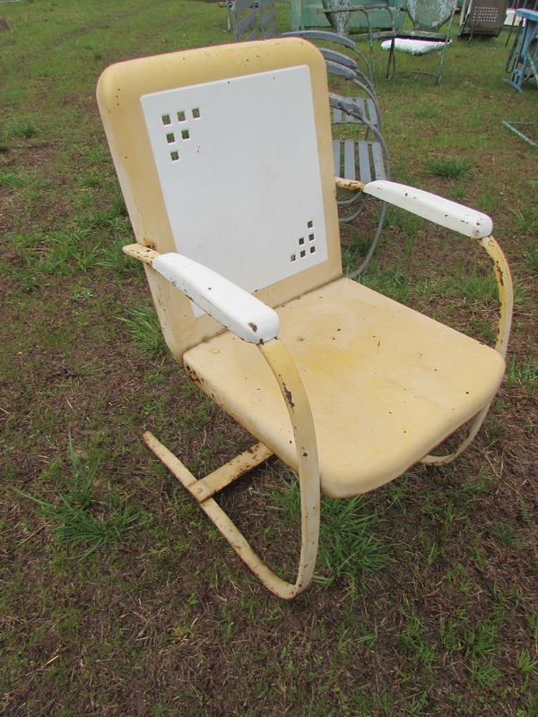 The first Logan vintage metal chair I have seen with a spring steel frame.  www.midcenturymetalchairs.com