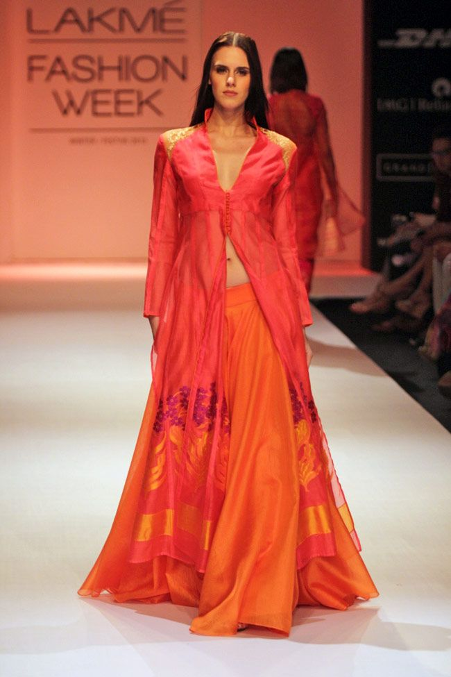 Rahul Mishra's collection saw a burst of colours @ Lakme Fashion Week Winter-Festive 2013. PHOTO: Yogen Shah