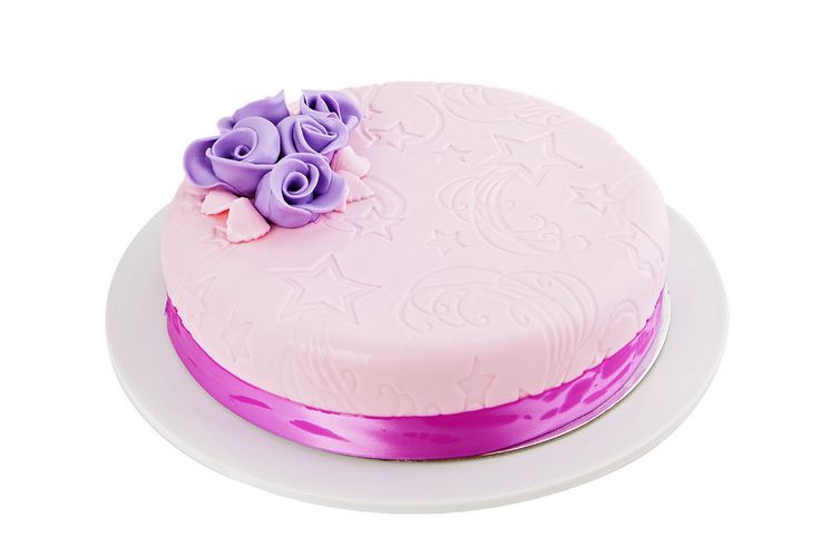 Our delicious #custom #cake creation, the #violet - designed by the #Cheesecakeshop master bakers!