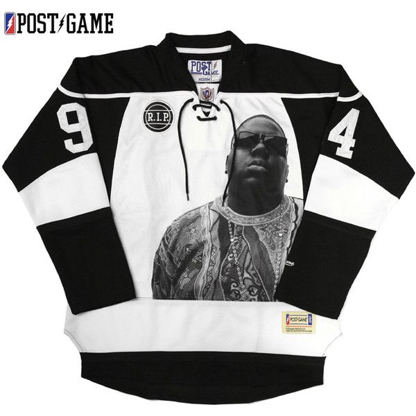 POST GAME HOCKEY JERSEY(S, M L, XL men's big size POST GAME NYC post... ($197) ❤ liked on Polyvore featuring mens, men's clothing, men's shirts, men's casual shirts, shirts, crewnecks and jersey
