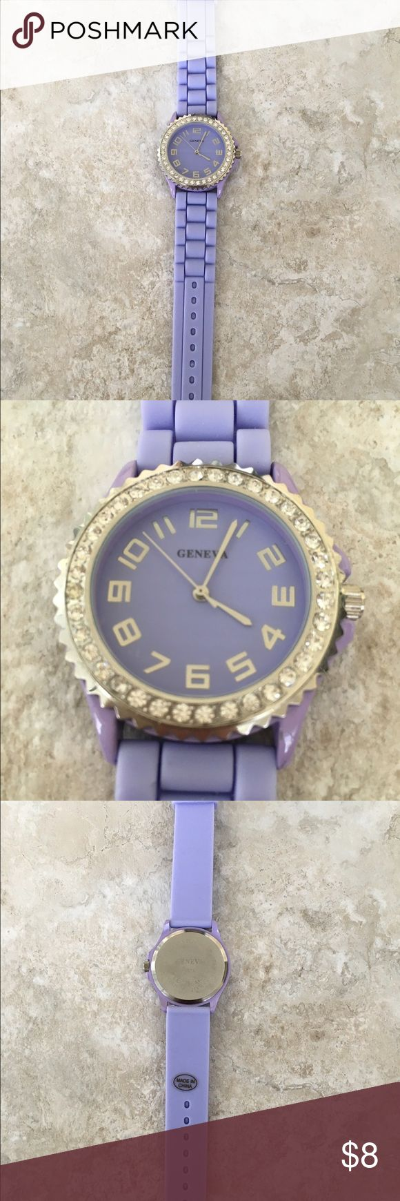 Lavender Geneva Watch Pretty lavender watch. Perfect condition. Just needs a new battery Geneva  Accessories Watches