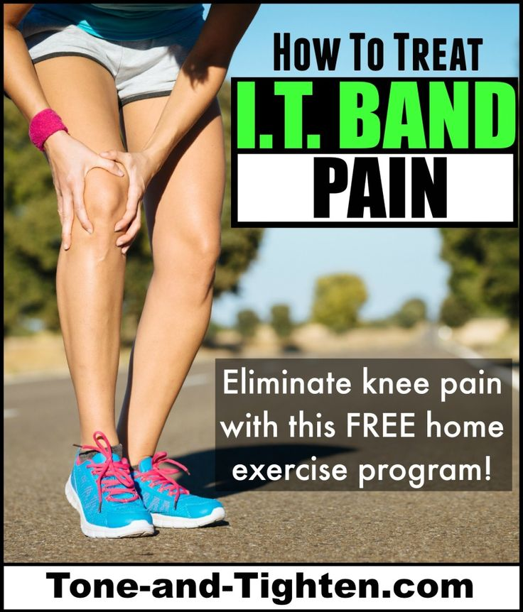 The best home exercise program to treat IT band pain at home - from Tone-and-Tighten.com