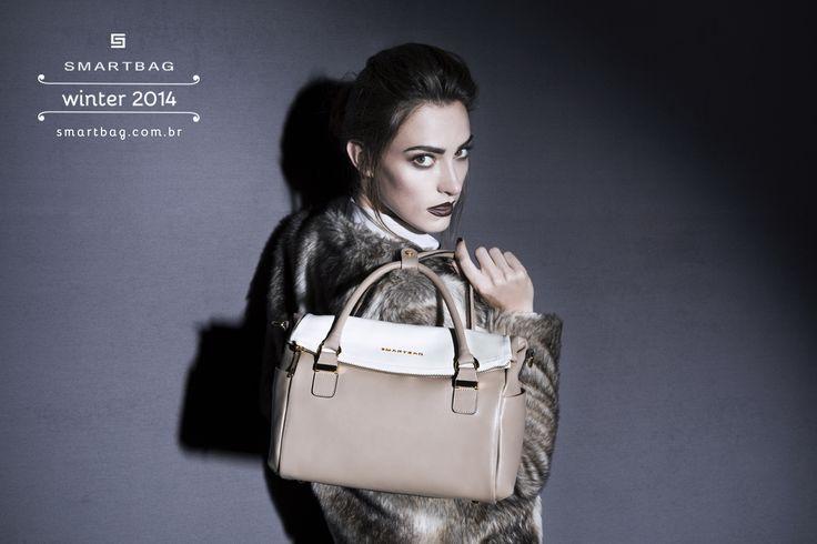 Smartbag Bolsas | Campanha Inverno 2014 #bolsa #couro #nude