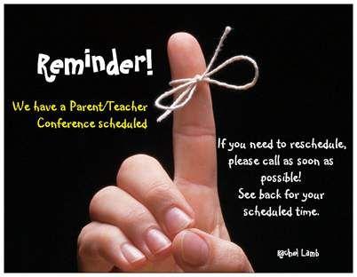Great Idea for Parent/Teacher Conferences!