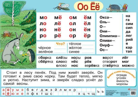 Буквы О–Ё – наглядное пособие – Дрофа-Вентана