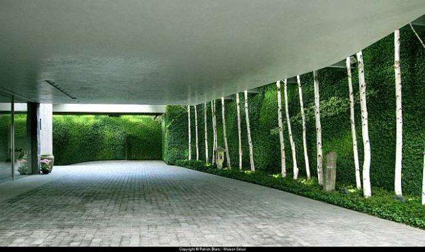 Ogrody wertykalne. Prywatny ogród, Seul
