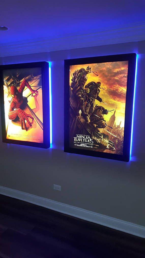 Colored Halo Movie Poster Led Light Box Display Frame ...
