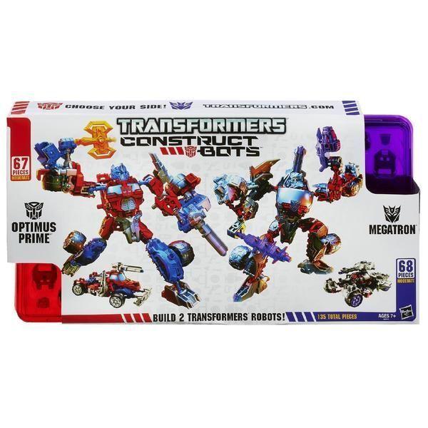 NIB Hasbro Transformers Construct-Bots Optimus Prime Vs. Megatron Construction  #Hasbro