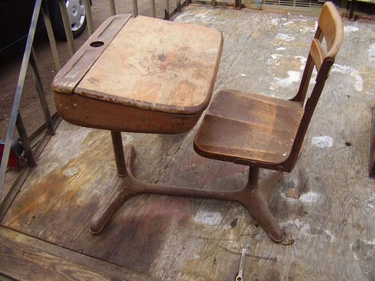 Vintage school desk - 122 Best Old School Desk Images On Pinterest Old School House