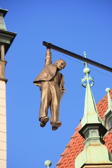 The Hanging Man at Olomouc by Indrani Ghose - hang in there! DAY 6: KRAKOW