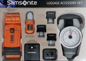 Samsonite Luggage Accessory Set with Strap Lock Converter Scale New | eBay