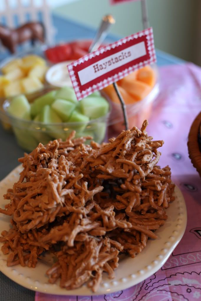 Haystacks snacks for an All American Western Rodeo party for the 4th of July