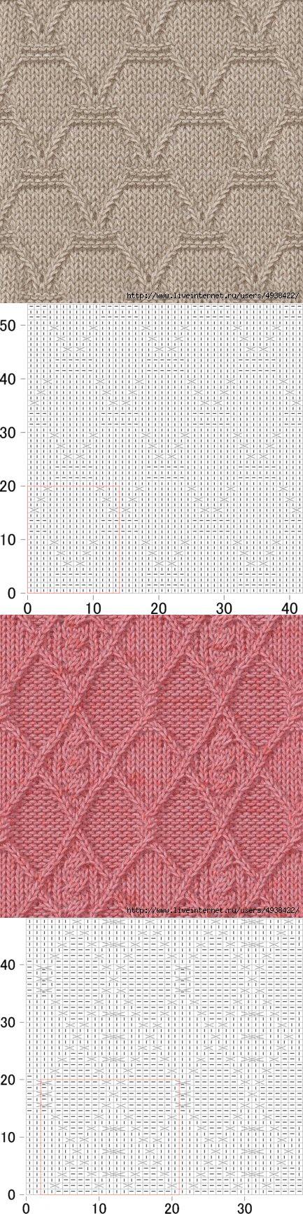 Узоры спицами (фото + схема)