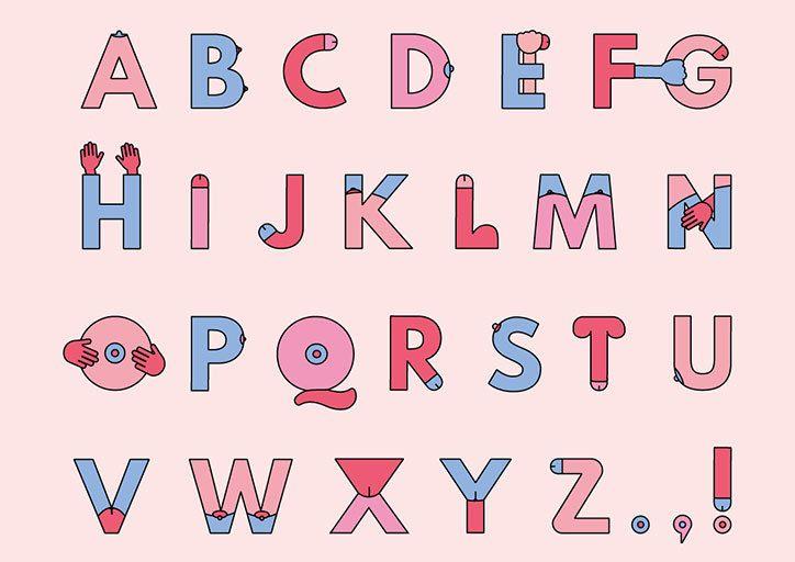 Grope Sans: a very rude typeface by Bompas & Parr.