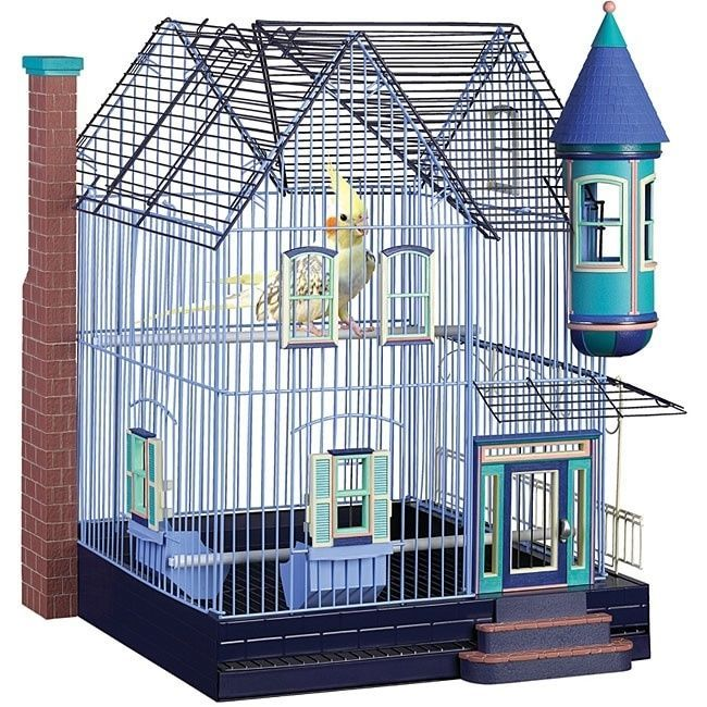 Victorian Parakeet Cockatiel Home Bird Cage By Featherstone 18x18x25H Sm to Med  #Featherstone