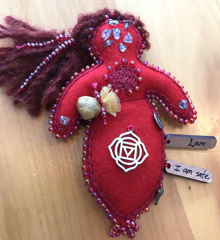 Root Chakra Doll, Healing Art Doll, Spirit Doll, Medicine Doll, Energy Doll by BRIDGITSBELL on Etsy