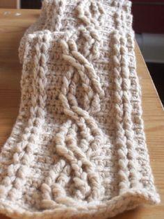 Ravelry: Crochet Cable Scarf pattern by Joyce Nordstrom