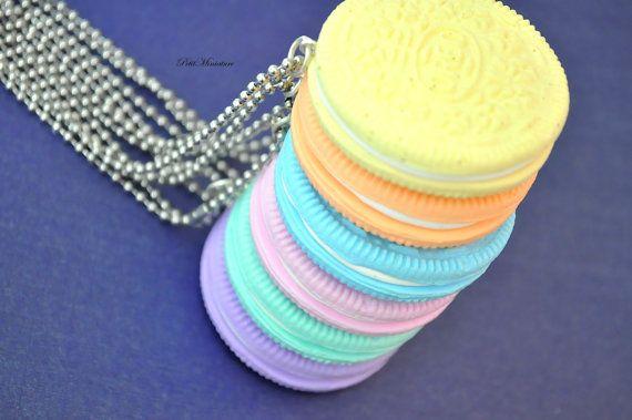 Oreo pendente collana collana di Oreo Kawaii di PetitMiniatures