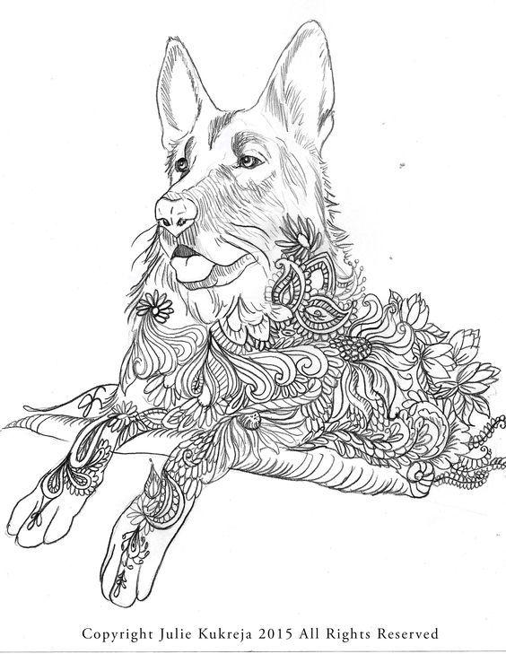 Adult Coloring Pages Books Colouring Pet Portraits Illustrator Fonts Mandalas