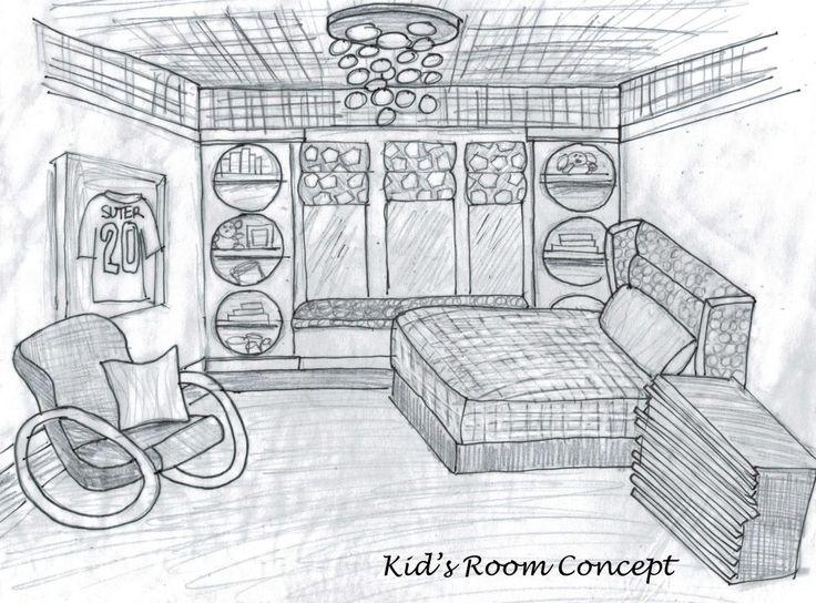 Interior Design Bedroom Sketches 9 best concept design images on pinterest | sketches, sketch