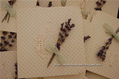 Wedding Invitations - with lavender