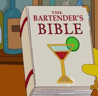 Homero: -Espera un momento, tu ganancia es del %400?  Moe: Dame eso!