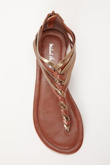 Driver Metallic Thong Sandal