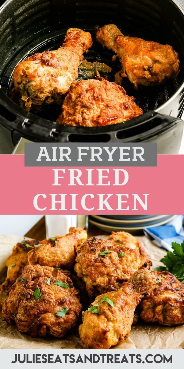 Get Crispy Golden Brown Buttermilk Fried Chicken In Your Air Fryer This Quick And Easy Air Fryer Fried C In 2020 Air Fryer Fried Chicken Fried Chicken Delish Recipes