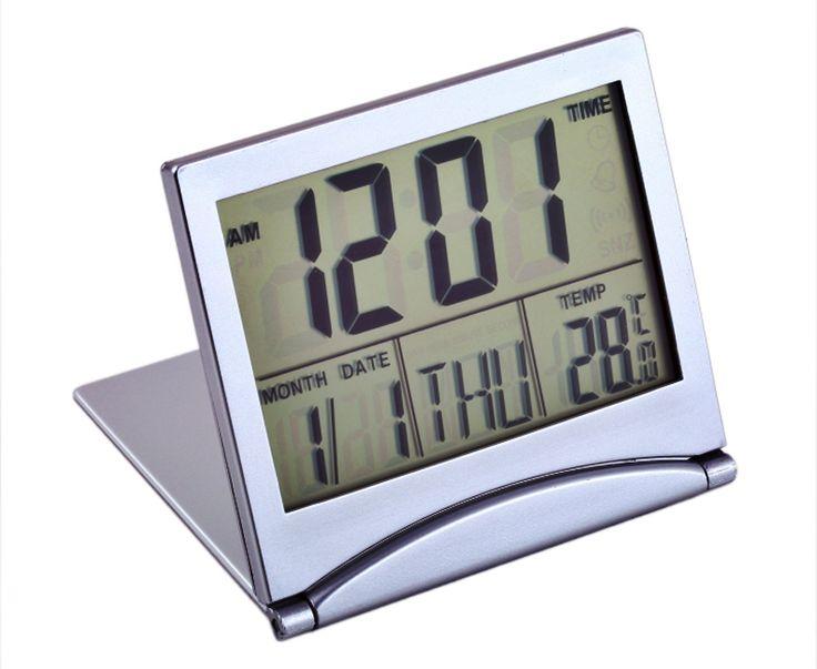 Thermometre-Horloge-Reveil-Ecran-Digital-Numerique-LCD-Calendrier-Date-Alarme