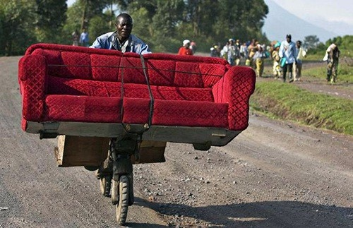 couch transport, Africa