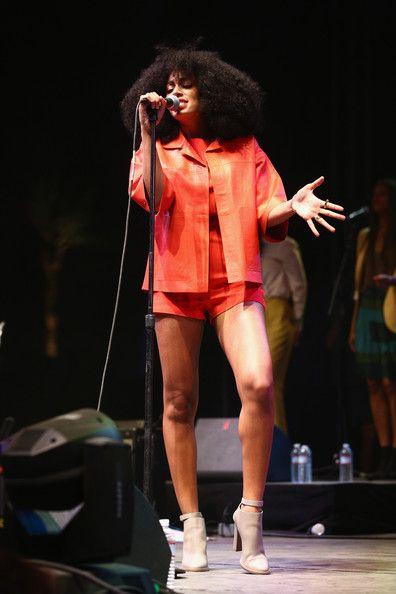 Solange Knowles in Max Mara 2014 Coachella Valley Music and Arts Festival - Day 2