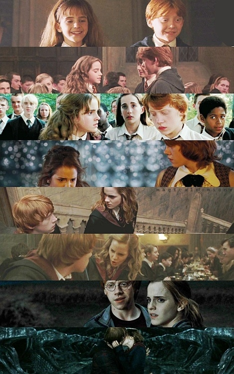 Ron and Hermione through the years