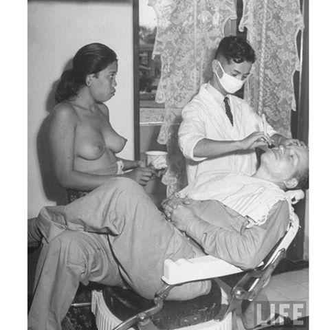 1940s Life Magazine pic of a Bali barbershop