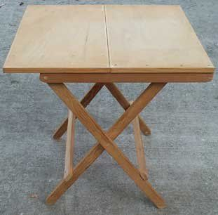 Folding TablePermanent Tables, Camps Boxes, Years Ago, Stores Easily, Cockpit Tables, Boxes Design, Folding Tables