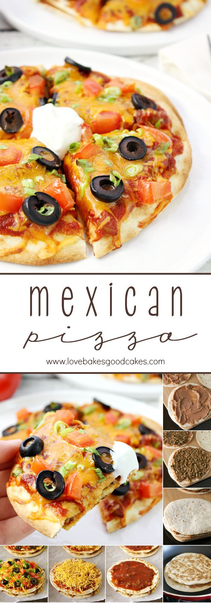 This homemade Mexican Pizza recipe is better than the famous fast food joint! Get your daily dose of dairy with melty cheese and a dollop of sour cream! #DairyMonth #ad