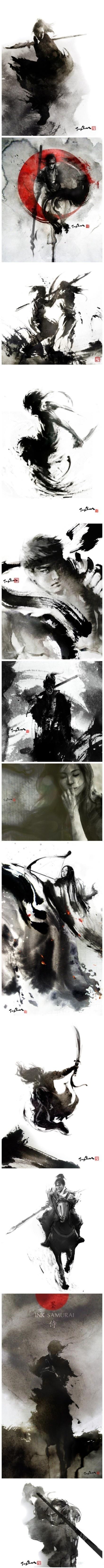 Ink samurais