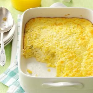 Green chili egg puff - This is a perfect breakfast casserole for when guests stay overnight.