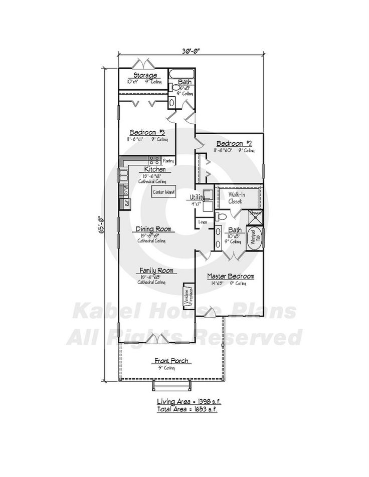 108 best floor plans images on pinterest arquitetura for Acadian cottage house plans