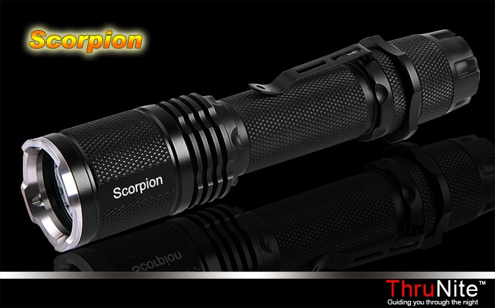 ThruNite Scorpion LED Flashlight! The most adaptable ground-breaking, and configurable tactical torch on the market today! Check it out for more information on thrunite.com!