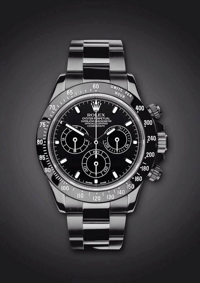 Rolex Daytona: Midnight / The Most Expensive Rolex Watch... £15,500.00 / Love it!