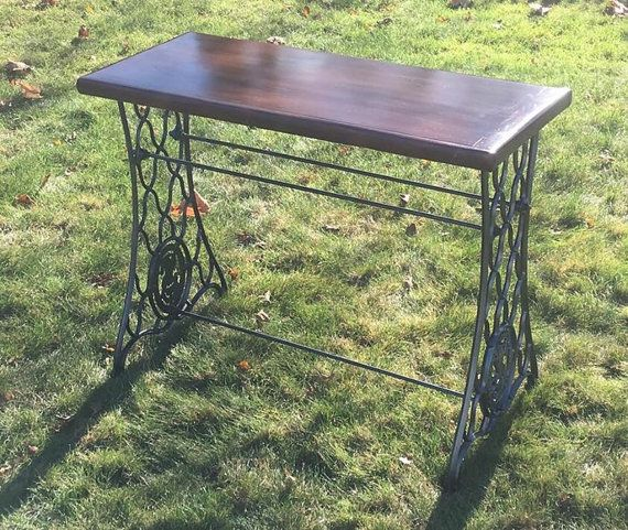 Antique Sewing Machine Table, Singer Sewing Machine Table, Reclaimed Wood Table
