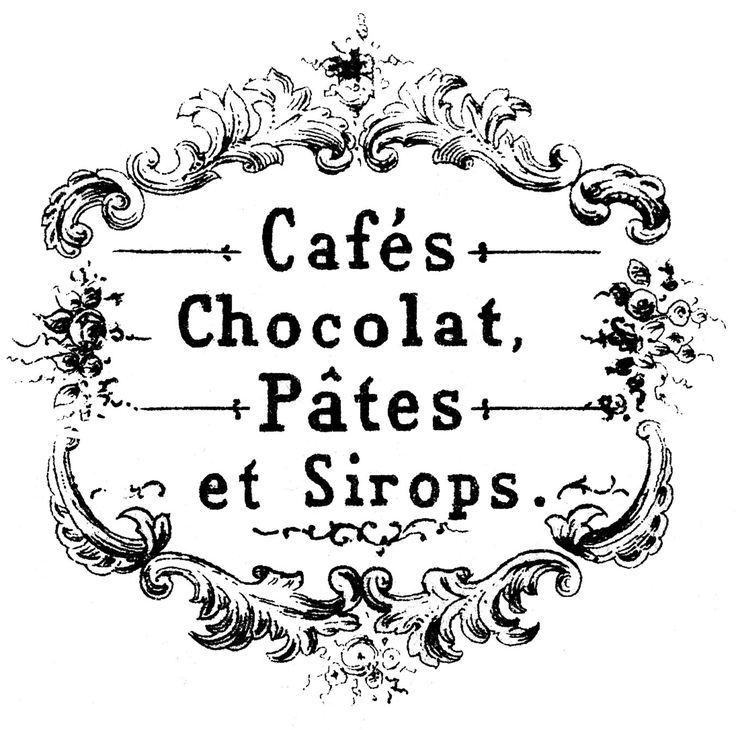 Transfer Printables - French Cafe & Chocolat - The Graphics Fairy