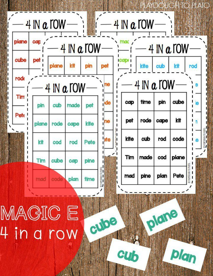 FREE Magic E 4 in a Row. Motivating, hands-on way to practice those tricky CVCe words.
