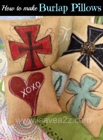 can't play w burlap..allergic..but these cross ideas for canvas are cute!