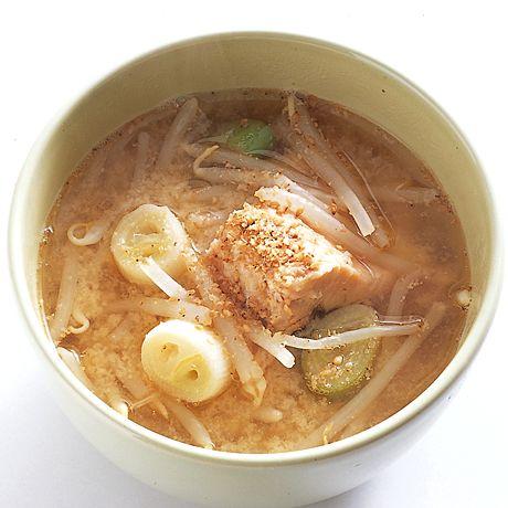 もやしと鮭のごまみそ汁 by井上和子さんの料理レシピ - レタスクラブニュース