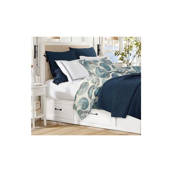 Best Pottery Barn Stratton Storage Bed With Drawers Full Queen 640 x 480