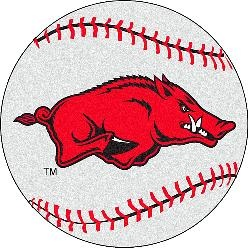 Fanmats Arkansas Razorbacks Baseball-Shaped Mat