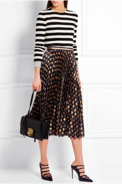 Gucci | Pleated printed lamé skirt | NET-A-PORTER.COM